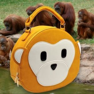 Yellow Monkey Crossbody Novelty Handbag